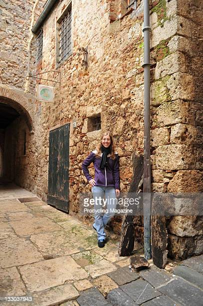 Portrait of professional road race cyclist Nicole Cooke, taken on February 17, 2010 in the Tuscan town of Massa Marittima. Cooke is the most...