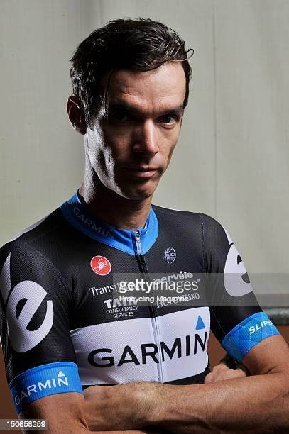 Portrait of professional road racing cyclist David Millar taken on May 16, 2011.