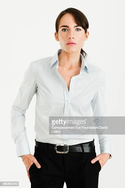 "portrait of professional woman - ""compassionate eye"" fotografías e imágenes de stock"