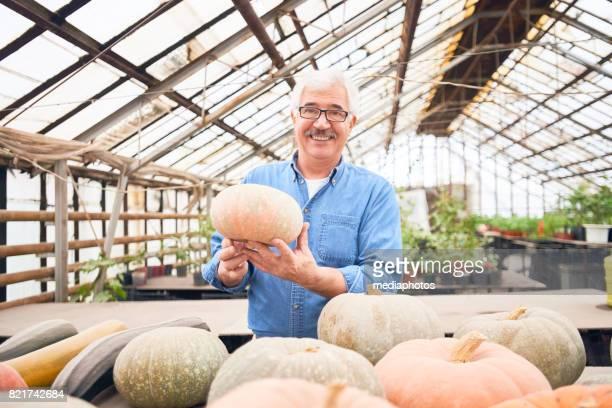 Portrait of Proud Farmer with Harvest