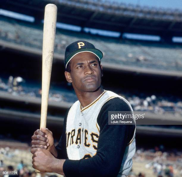 Portrait of Puerto Rican baseball player Roberto Clemente of the Pittsburgh Pirates as he poses for a photo circa 1970.