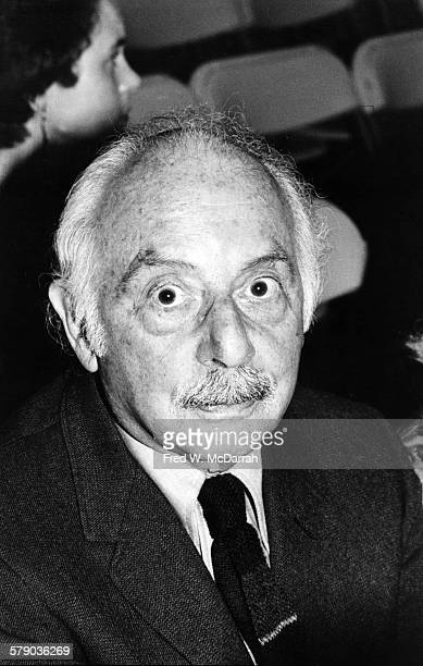 Portrait of Pulitzer Prize-winning American poet and editor Stanley Kunitz as he attents the American Book Awards , New York, New York, May 1, 1980.