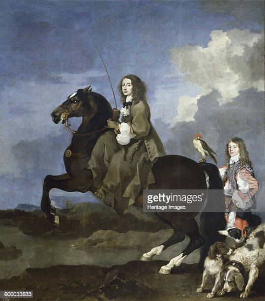 Portrait of Queen Christina of Sweden on Horseback 16531654 Found in the collection of Museo del Prado Madrid Artist Bourdon Sébastien