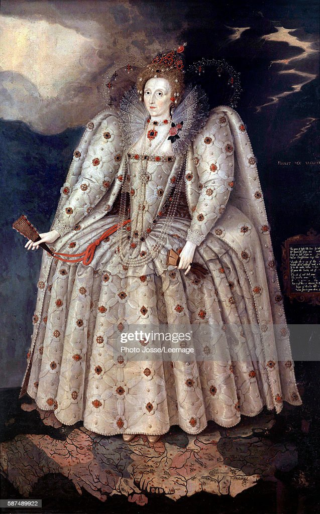 Portrait of the Queen Elizabeth Ier by Marcus Gheeraerts : News Photo