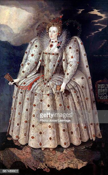 Portrait of Queen Elizabeth I of England Painting by Marcus Gheeraerts the Younger Circa 1592 241 x152 m National Portrait Gallery London
