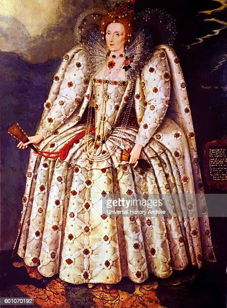 Portrait of Queen Elizabeth I of England the fifth and last monarch of the Tudor dynasty Dated 16th Century