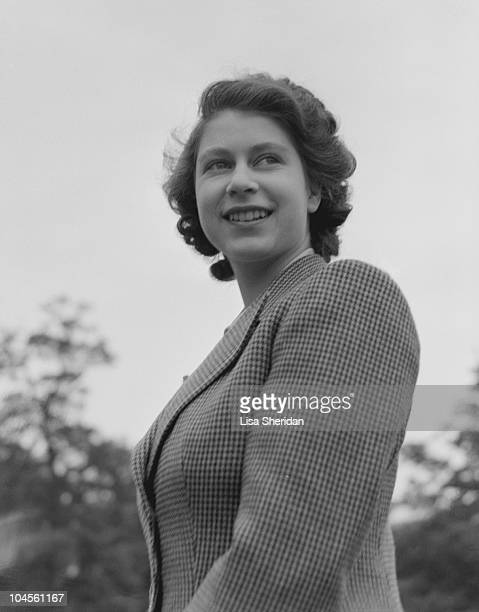 Portrait of Queen Elizabeth II wearing riding gear, circa 1942.