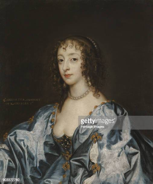 Portrait of Queen Henrietta Maria of France Private Collection