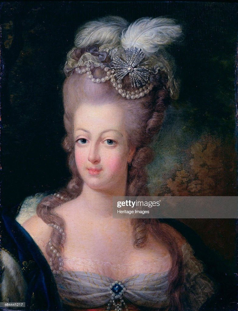 'Portrait of Queen Marie Antoinette of France', 1775. Artist: Jean-Baptiste André Gautier d'Agoty : News Photo