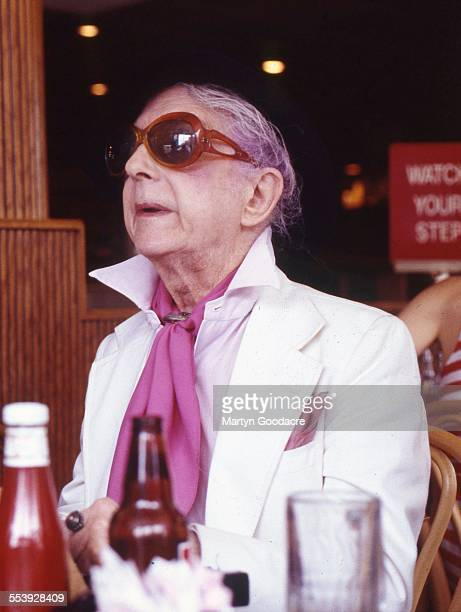 Portrait of Quentin Crisp in a New York diner, United States, 1995.
