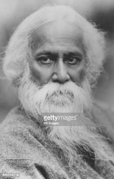A portrait of Rabindranath Tagore writer of the song 'Amar Sonar Bangla Aami Tomai Bhalobashi' which went on to become the national anthem of...
