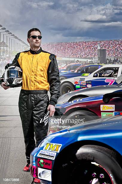 Portrait of Race Car Driver at Track