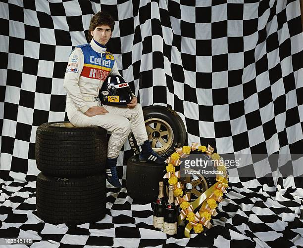 Portrait of racing driver Damon Hill son of former Formula One World Champion Graham Hill on 1 May 1988 in London United Kingdom