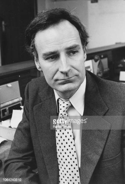 Portrait of radio and television presenter Peter Snow January 7th 1980