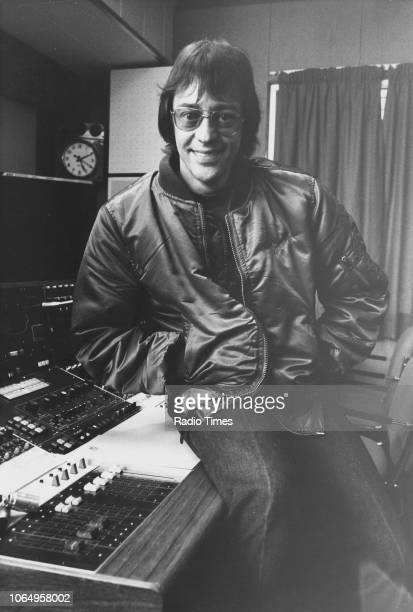 Portrait of radio broadcaster Tommy Vance May 1st 1981