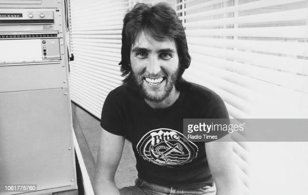 Portrait of radio disc jockey Johnnie Walker, August 14th 1975.