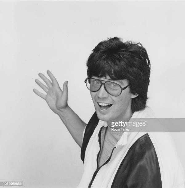 Portrait of radio disc jockey Mike Read 1984