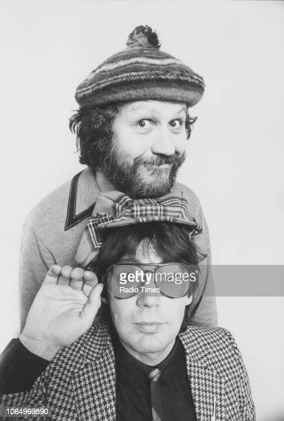 Portrait of radio disc jockey's Mike Read and Dave Lee Travis March 5th 1981