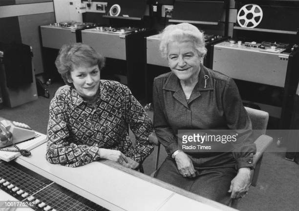 Portrait of radio presenter Sue MacGregor and opera singer Dame Joan Hammond photographed for Radio Times in connection with the BBC Radio 4 series...