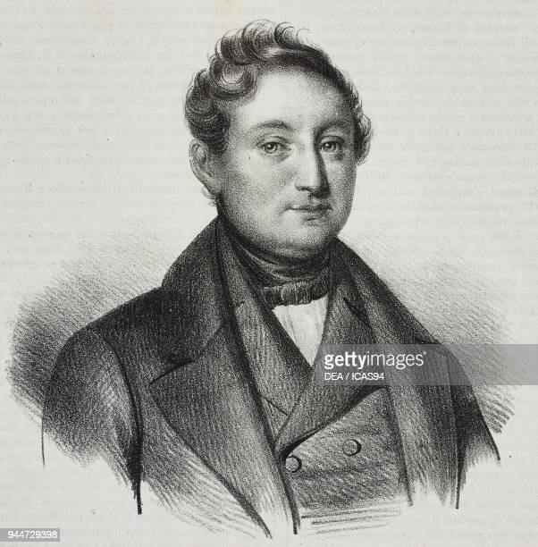 Portrait of Raffaele Liberatore Italian historian and philologist lithograph by Gaetano Riccio from Poliorama Pittoresco n 48 July 8 1843