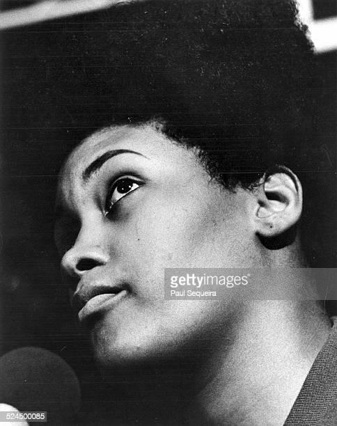Portrait of raid survivor Deborah Johnson who was Fred Hampton's girlfriend at the time of his death Chicago Illinois 1969