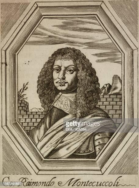 Portrait of Raimondo Montecuccoli Italian general and writer engraving from Elogii di capitani illustri by Lorenzo Crasso Venice