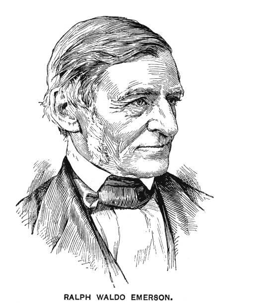Portrait of Ralph Waldo Emerson, American essayist, lecturer, philosopher, and poet