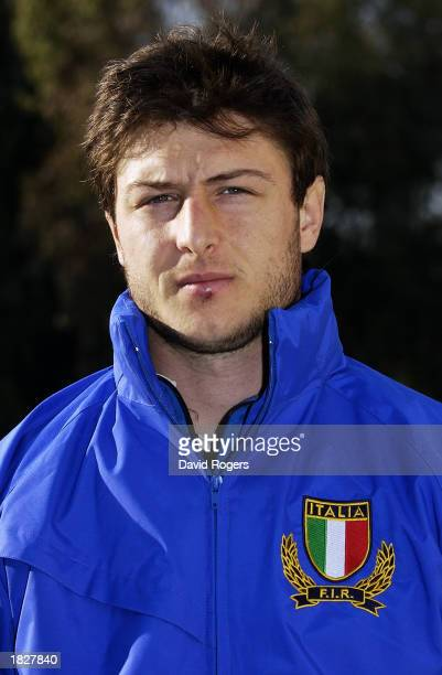 Portrait of Ramiro Pez of the Italian Rugby Union team at the photocall held on February 18 2003 in Rome Italy