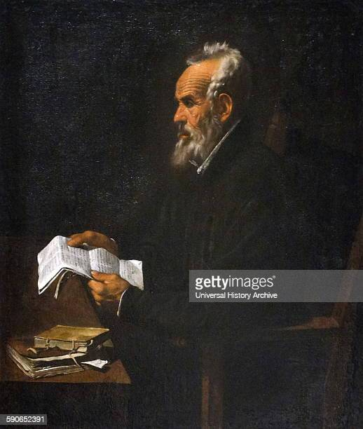 Portrait of Ramon Llull Majorcan writer and philosopher logician and a Franciscan tertiary By Francisco Ribalta Spanish painter of the Baroque period...