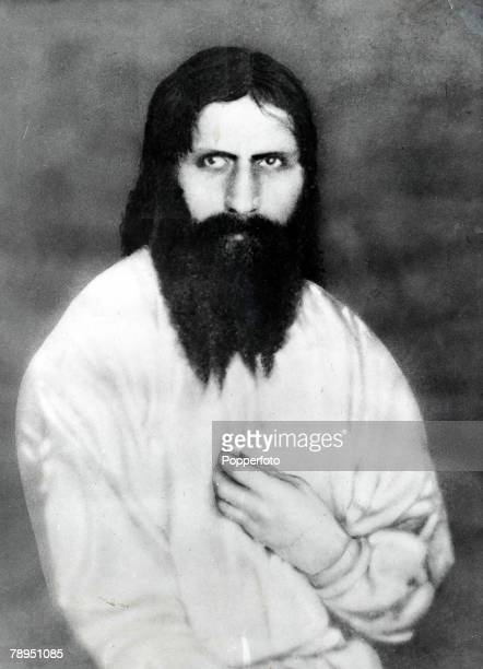 Portrait of Rasputin A Siberian peasant monk notorious for his debauchery who wielded great influence over Tsarina Alexandra until he was...
