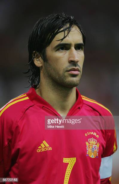 Portrait of Raul of Spain prior to the FIFA World Cup Group 7 qualifying match between Spain and Serbia & Montenegro at the Vicente Calderon stadium...