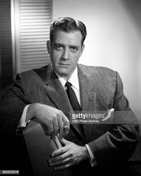Portrait of Raymond Burr He portrays the lawyer Perry Mason in the CBS television legal drama Perry Mason January 1 1957 Los Angeles CA