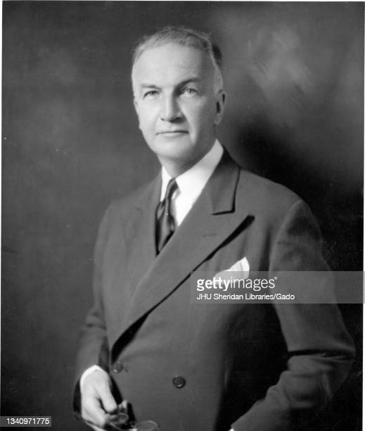 Portrait of Raymond Dexter Havens, the Caroline Donovan Professor of English and English Department Chair at Johns Hopkins University from 1925 until...