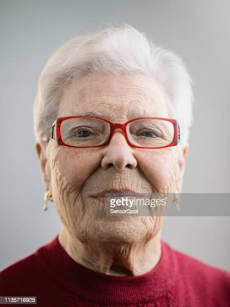 portrait of real caucasian senior woman with attitude - southern european descent stock pictures, royalty-free photos & images