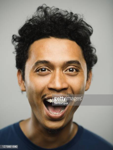 portrait of real pakistani man with shouting expression - shouting stock pictures, royalty-free photos & images