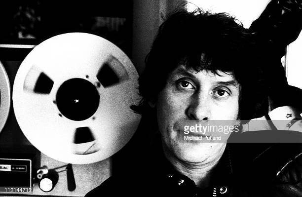 Portrait of record producer Mickie Most at his RAK Records headquarters London 27th February 1975