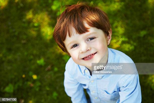 Portrait of red haired boy (4-5)