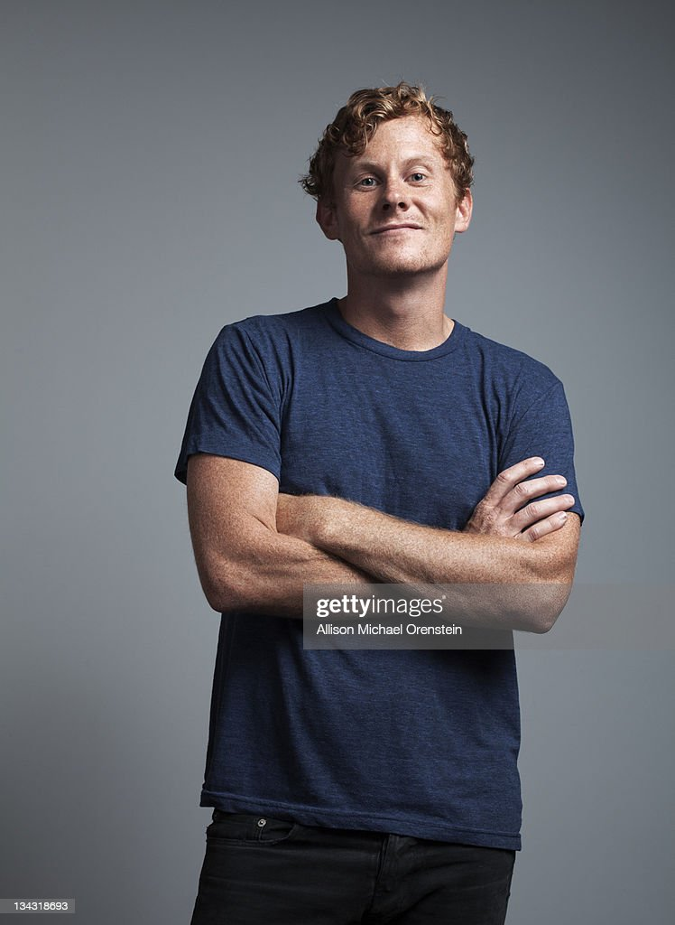 portrait of red-headed man : Stock-Foto