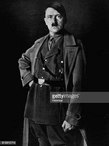 A portrait of Reichskanzler Adolf Hitler the Fuhrer of Nazi Germany from 19331945 Hitler rose from obscurity to lead the German National Socialists...