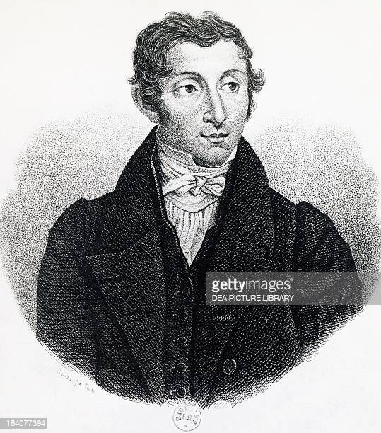 Portrait of Rene Caillie French explorer and naturalist Engraving