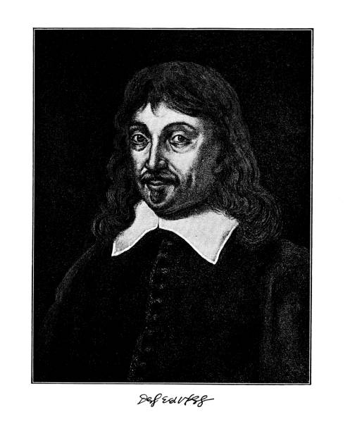 Portrait of Rene Descartes, French philosopher, mathematician, and scientist.