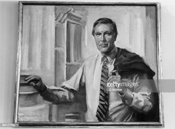A portrait of Rep Morris King Mo Udall DAriz House Interior and Insular Affairs Committee Chairman House of Representatives Member hang in the House...