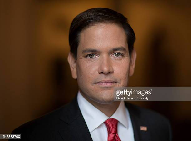 Portrait of Republican presidential candidate Sen Marco Rubio of Florida at the Omni Shoreham Hotel Washington DC September 25 2015
