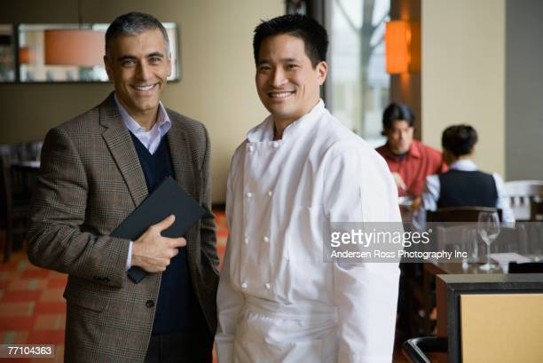 Portrait of restaurant manager and chef