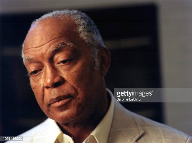 Portrait of retired American baseball player Monte Irvin Florida 1991 He played both left and right field for the Newark Eagles of the Negro National...
