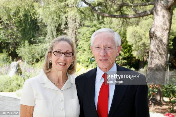 Portrait of Rhoda Fischer and her husband Governor of the Bank of Israel Professor Stanley Fischer Jerusalem Israel May 2 2010