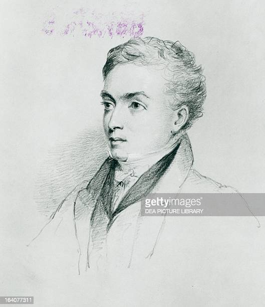 Portrait of Richard Lemon Lander English explorer Drawing by William Brockedon 375 x271 cm 1831