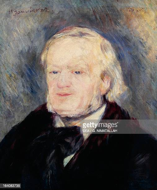 Portrait of Richard Wagner German composer by PierreAuguste Renoir oil on canvas 53x46 cm Paris Musée D'Orsay
