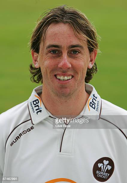 Portrait of Rikki Clarke of Surrey taken during the Surrey County Cricket Club Photocall at the Brit Oval on April 12 2006 in London England