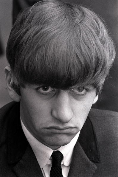 Portrait Of Ringo Starr Drummer With The Beatles Pop Group In Serious Pose 1963